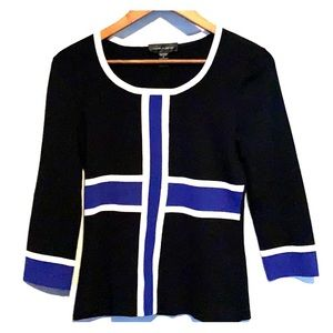 Cable & Gauge Woman long sleeve stretch blouse